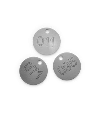 Stainless steel key numbering