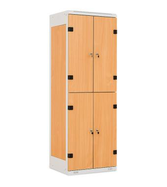 4-box clothes lockers, 1750 x 600 x 500 mm - Laminate/Steel